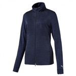 Puma Heather Full Zip Popover - Peacoat