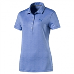 Puma Micro Floral Golf Polo - Nebulas Blue