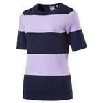 Puma Short Sleeve Golf Sweater - Peacoat/Purple Rose