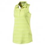 Puma Racerback Sleeveless Golf Polo - Sunny Lime