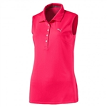 Puma Pounce Sleeveless Golf Polo - Bright Plasma