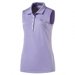 Puma Pounce Sleeveless Golf Polo - Purple Rose