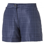 "Puma 5"" Soft Plaid Shorter Golf Short - Peacoat"