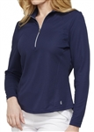 GG Blue Ellen Long Sleeve Mock - Navy