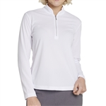 GG Blue Ella Long Sleeve Golf Polo - White