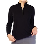 GG Blue Ella Long Sleeve Golf Polo - Black
