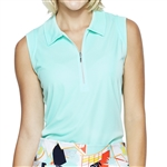 GG Blue Katy Sleeveless Golf Polo - Fresh