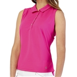 GG Blue Leah Sleeveless Golf Polo - Cerise