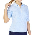 GG Blue Jane Short Sleeve Golf Polo - Caribbean Dot