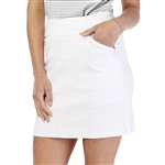 GG Blue Fab Fit White Golf Skort