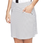 GG Blue Harlo Golf Skort - Black Dot