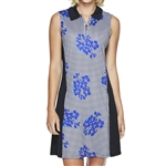 GG Blue Nova Sleeveless Golf Dress - Vibrant/Black