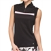 GG Blue Sara Sleeveless Black/Dahlia Golf Polo