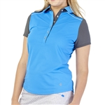 GG Blue Dylan Short Sleeve Golf Polo - Caribbean