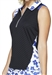 GG Blue April Sleeveless Golf Polo - Black/Clarity