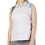 GG Blue April Sleeveless Golf Polo - Shells