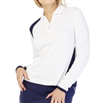 GG Blue Haley Long Sleeve Top - White/Navy