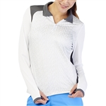 GG Blue Haley Long Sleeve Top - Shells
