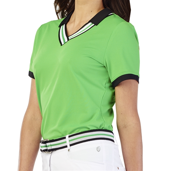 GG Blue Betty Short Sleeve Golf Polo - Turtle