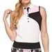 GG Blue Luna Sleeveless White/Dahlia Golf Polo