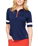 GG Blue Iris Navy/White Half Sleeve Golf Polo