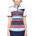 GG Blue Zara Anthem/Navy Sleeveless Golf Polo