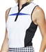 GG Blue Kai Sleeveless Golf Polo - White/Black/Clematis
