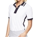 GG Blue Aria Short Sleeve Golf Polo - White/Navy