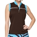 GG Blue Piper Sleeveless Golf Polo - Mud/Basin