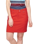 GG Blue Wedge Victory Red Golf Skort