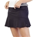 GG Blue Flounce Black Pull On Golf Skort