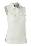 Daily Sports Gina Sleeveless Polo - Ivory