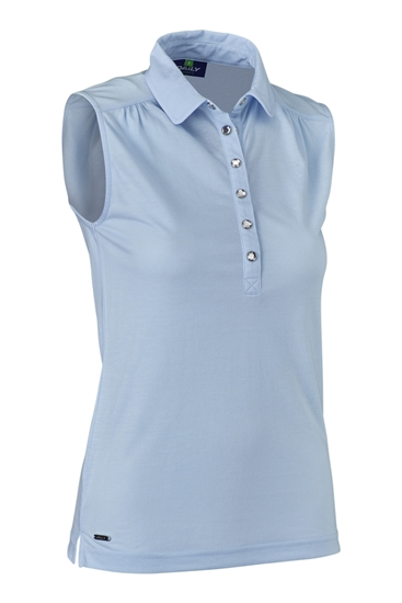 Daily Sports Majken Sleeveless Polo - Light Blue