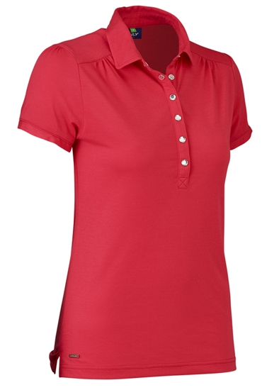 Daily Sports Majken Cap Sleeve Polo - Tomato