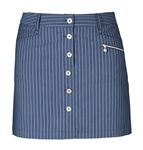 Daily Sports Jody Pinstripe Golf Skort - Navy/Blue Bell