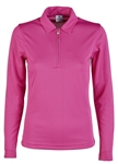 Daily Sports Macy Long Sleeve Raspberry Polo