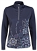 Daily Sports Trisha Long Sleeve Navy Mock