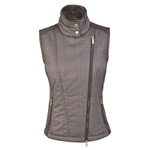 Daily Sports Katelyn Padded Chocolate Herringbone Vest