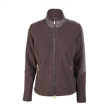 Daily Sports Katelyn Chocolate Herringbone Fleece Jacket