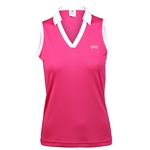 Daily Sports Kelsie Raspberry Sleeveless Polo