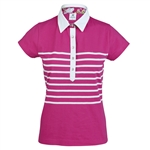 Daily Sports Gabrielle Short Sleeve Raspberry Cotton Polo