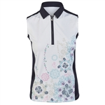Daily Sports Trisha Sleeveless White Polo