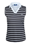 Daily Sports Black/White Mima Sleeveless Polo