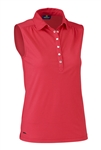 Daily Sports Majken Sleeveless Polo - Tomato