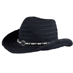 Daily Sports Chap Western Hat - Black