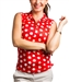 SanSoleil SolTek UPF50 Sleeveless Polo - Spot on Red