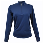 SanSoleil SunGlow UV50 Navy Long Sleeve Top