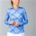 SanSoleil SolCool UV50 Long Sleeve Polo - Ditsy Bits
