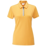 PING Noa Short Sleeve Polka Dot Polo - Sunset Gold