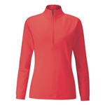 PING Carmel 1/2 Zip Cherry Red Stretch Pullover